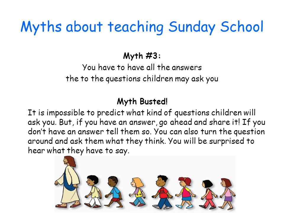 Myths about teaching Sunday School