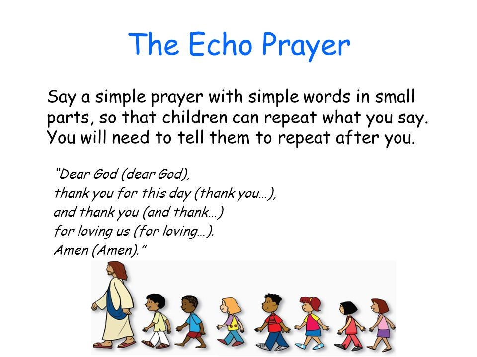 The Echo Prayer