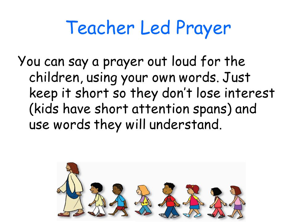 Teacher Led Prayer