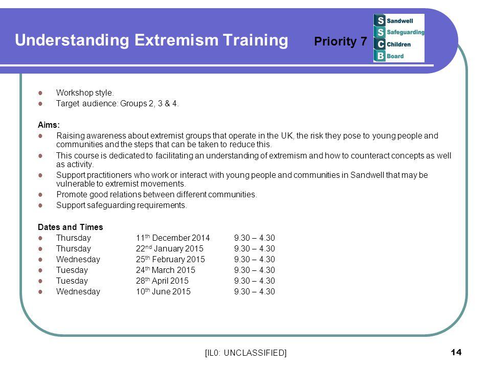 Understanding Extremism Training Priority 7