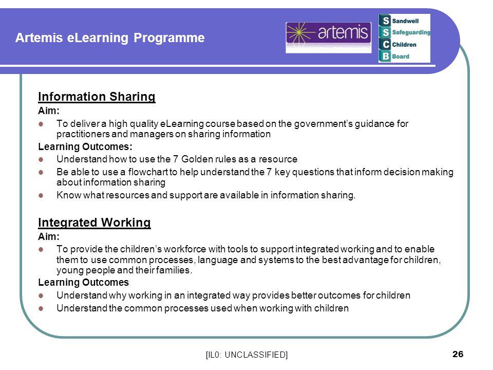 Artemis eLearning Programme