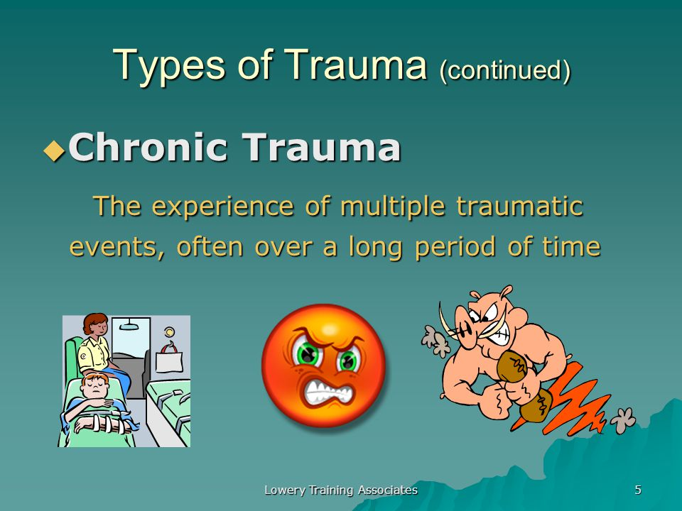 Types of Trauma (continued)
