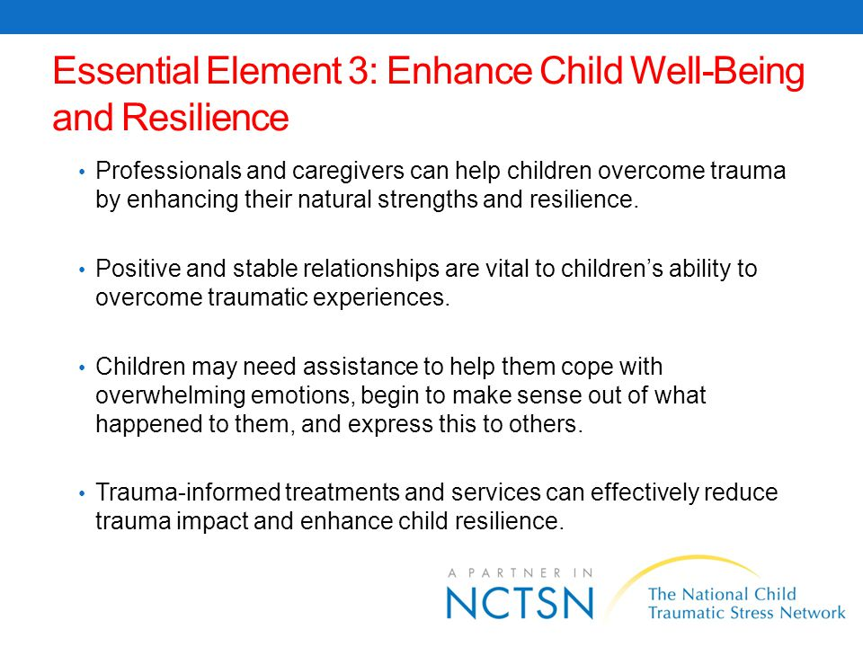 Essential Element 3: Enhance Child Well-Being and Resilience