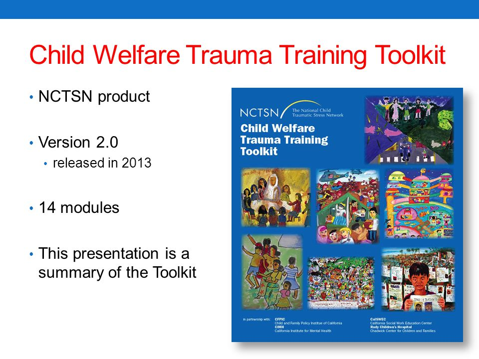 Child Welfare Trauma Training Toolkit