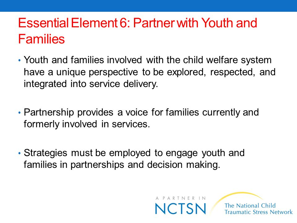 Essential Element 6: Partner with Youth and Families