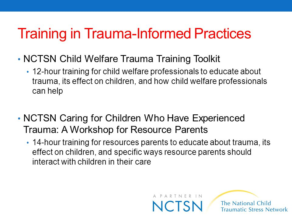 Training in Trauma-Informed Practices