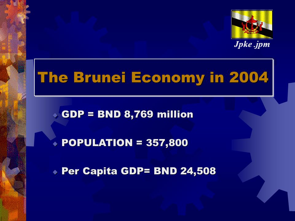 The Brunei Economy in 2004 GDP = BND 8,769 million