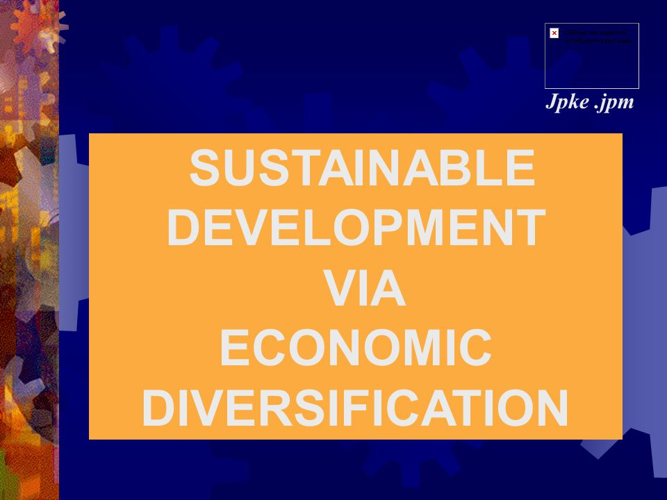 SUSTAINABLE DEVELOPMENT ECONOMIC DIVERSIFICATION