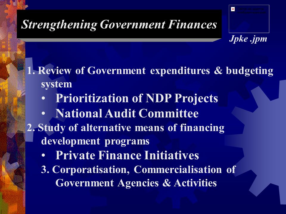 Strengthening Government Finances