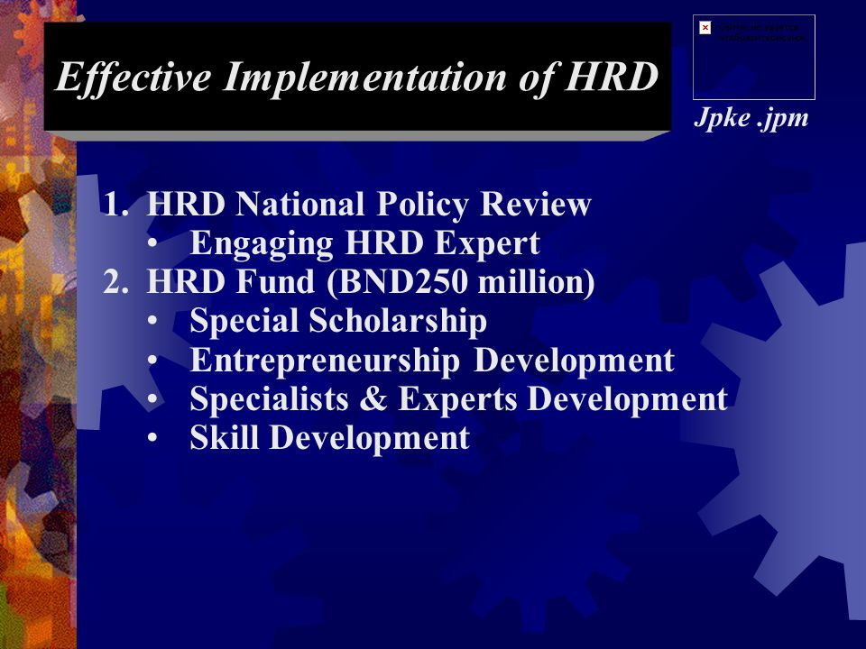 Effective Implementation of HRD