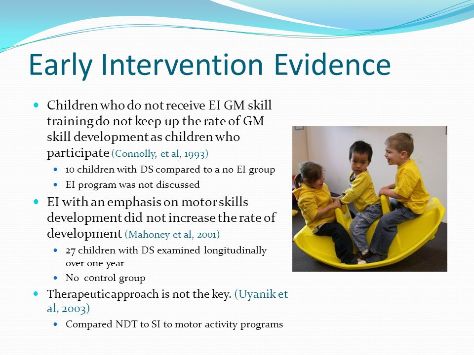 Early Intervention Evidence