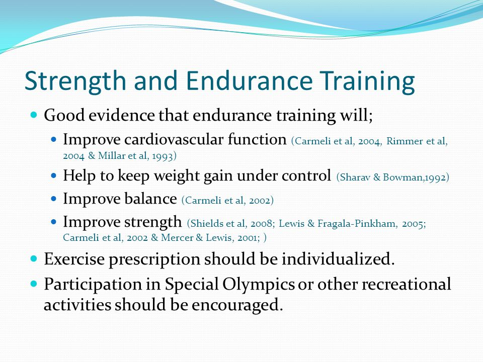Strength and Endurance Training