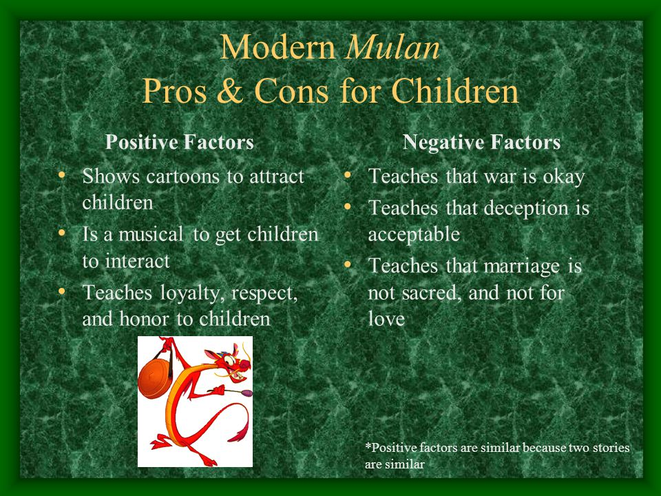 Modern Mulan Pros & Cons for Children