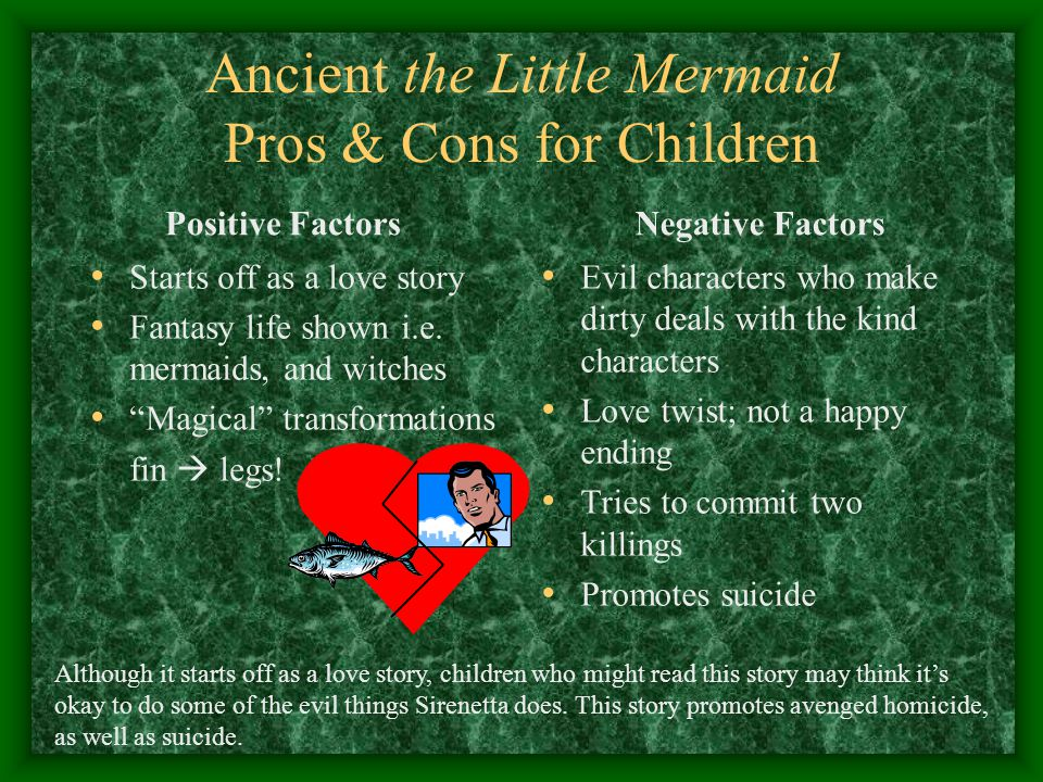 Ancient the Little Mermaid Pros & Cons for Children