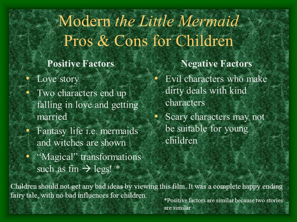 Modern the Little Mermaid Pros & Cons for Children