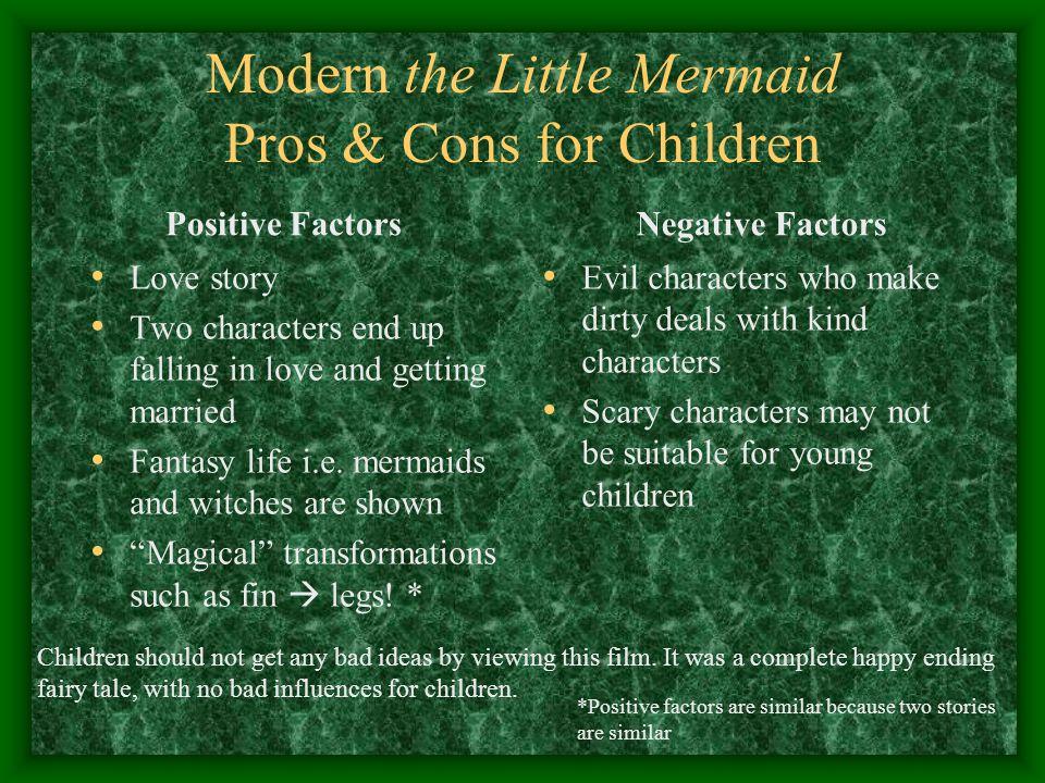 Modern the Little Mermaid Pros & Cons for Children
