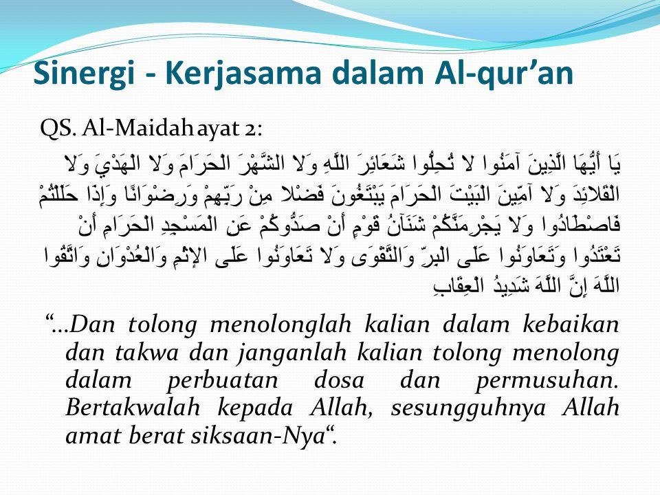 Sinergi - Kerjasama dalam Al-qur'an