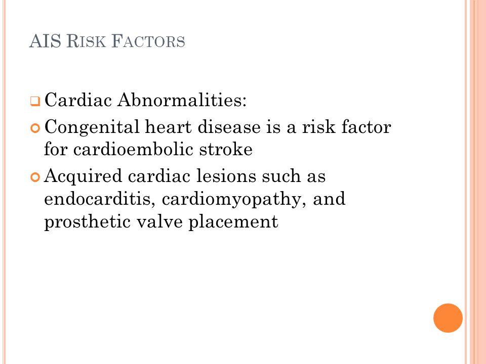 Cardiac Abnormalities: