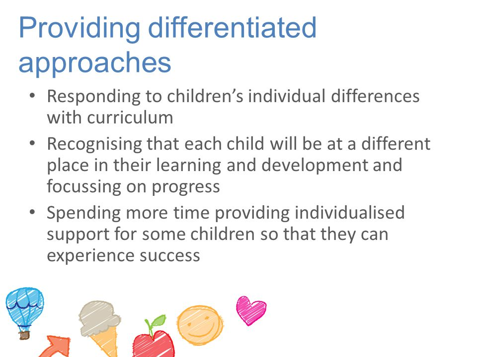 Providing differentiated approaches