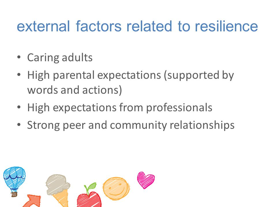 external factors related to resilience