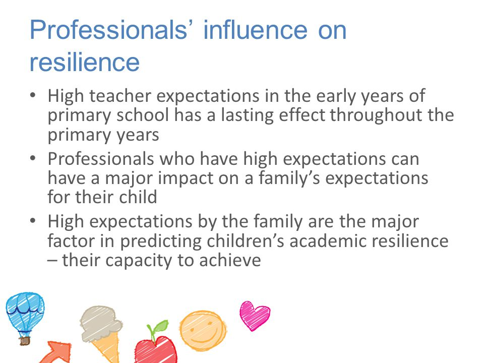 Professionals' influence on resilience
