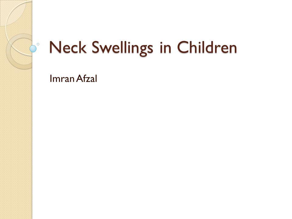 Neck Swellings in Children