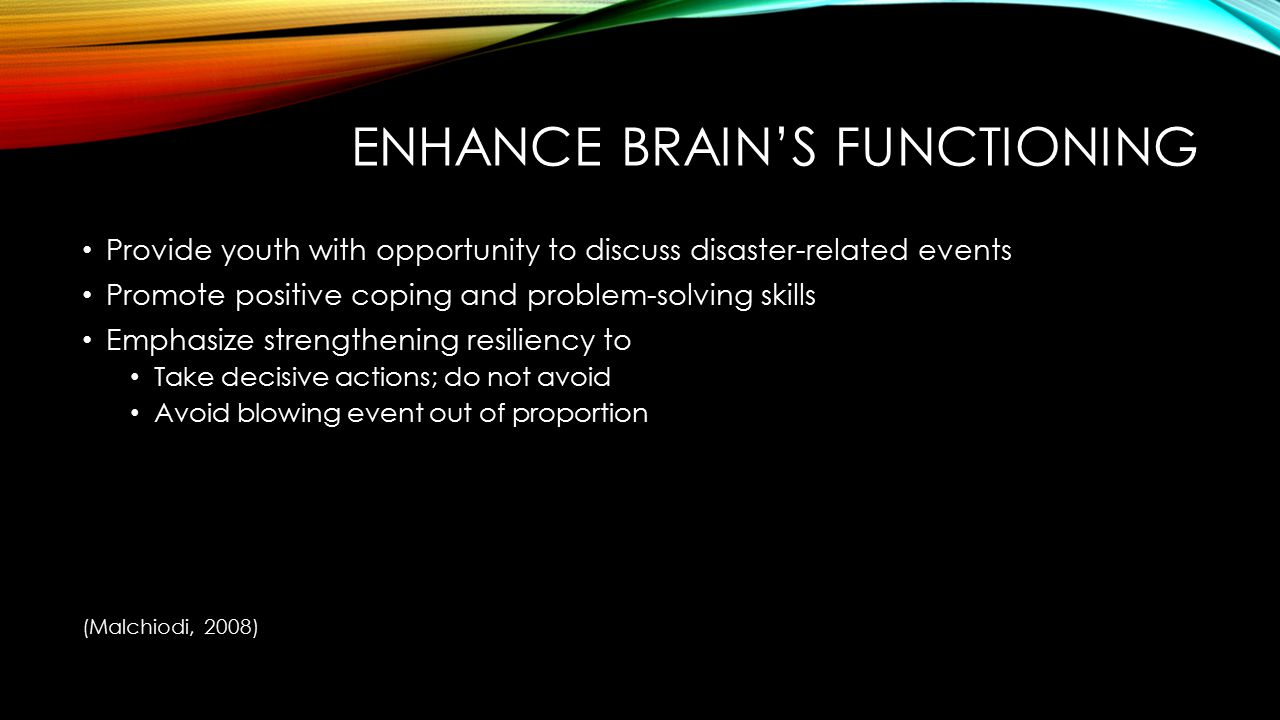 Enhance brain's functioning