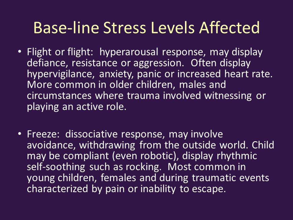 Base-line Stress Levels Affected
