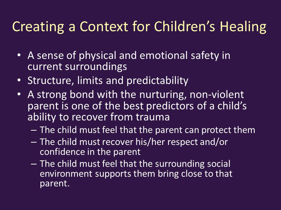Creating a Context for Children's Healing