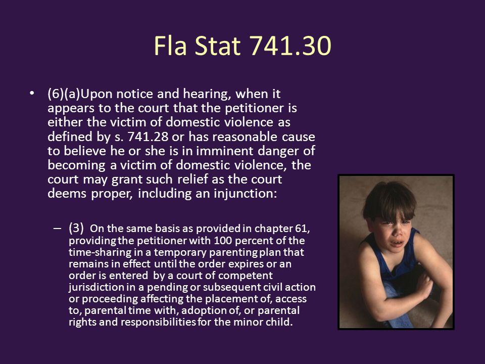 Fla Stat 741.30