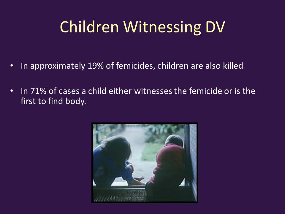 Children Witnessing DV