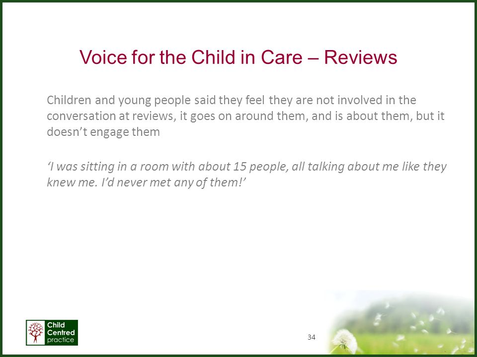 Voice for the Child in Care – Reviews