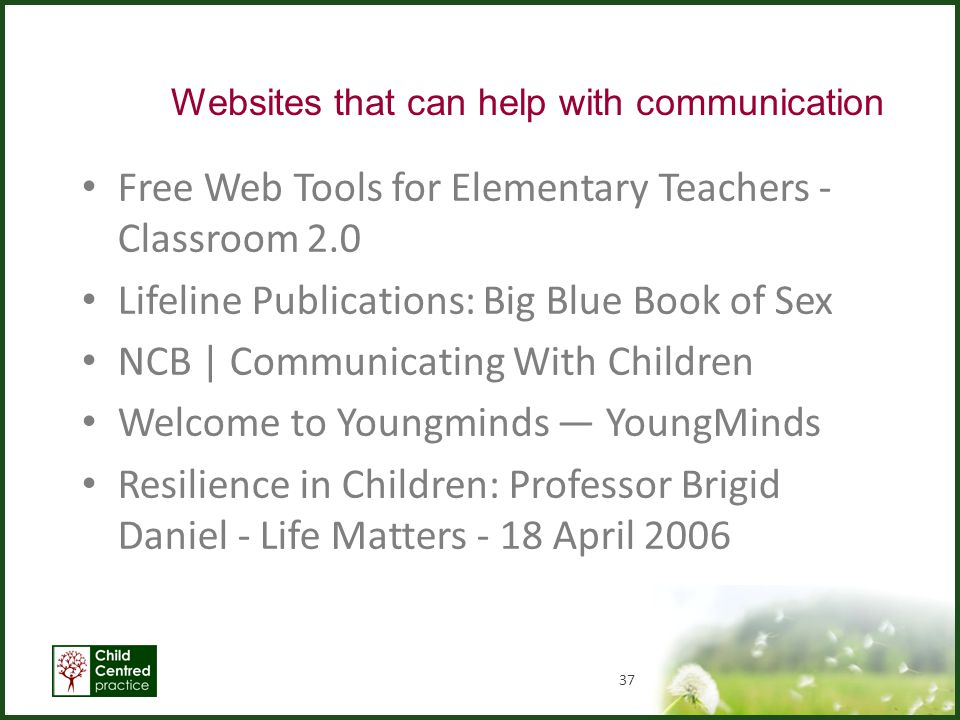 Websites that can help with communication