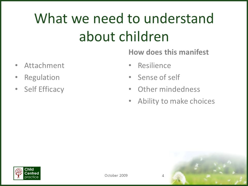 What we need to understand about children