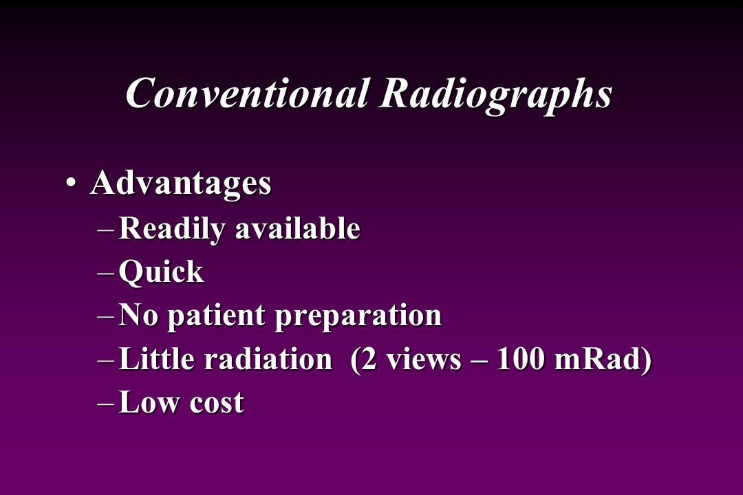 Conventional Radiographs