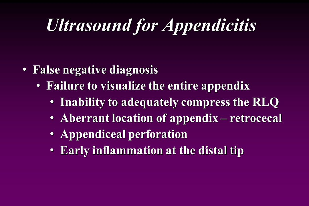 Ultrasound for Appendicitis
