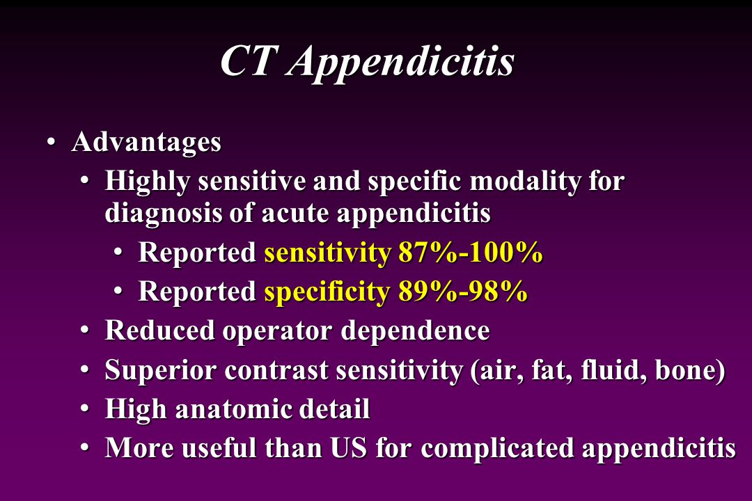 CT Appendicitis Advantages