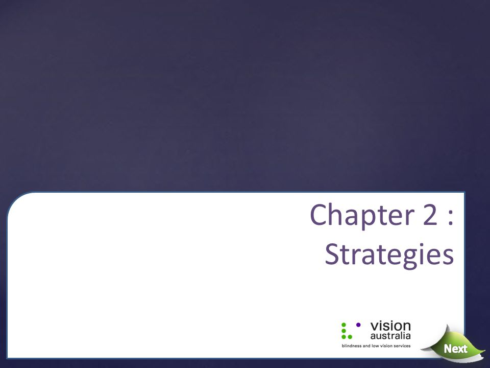 Chapter 2 : Strategies Next