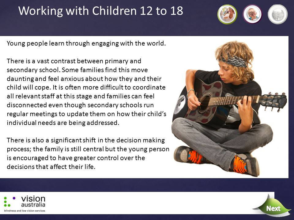 Working with Children 12 to 18