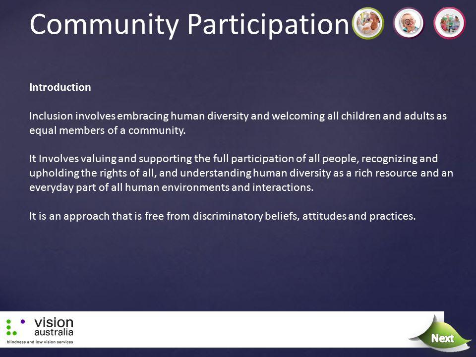Community Participation