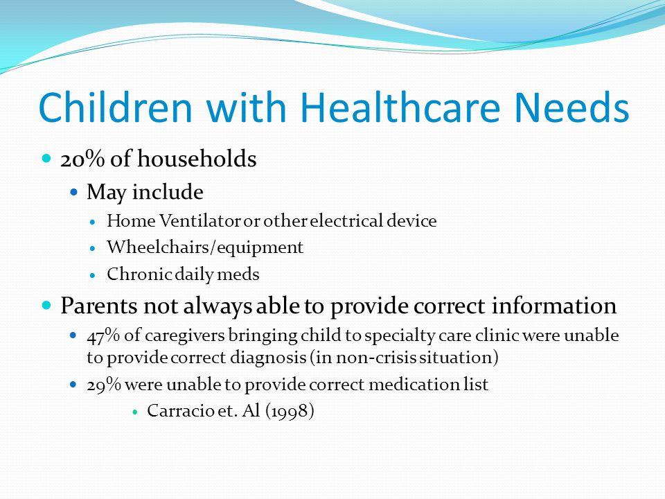 Children with Healthcare Needs
