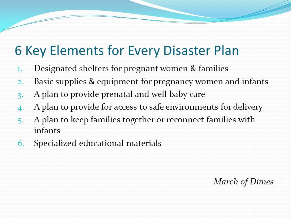 6 Key Elements for Every Disaster Plan