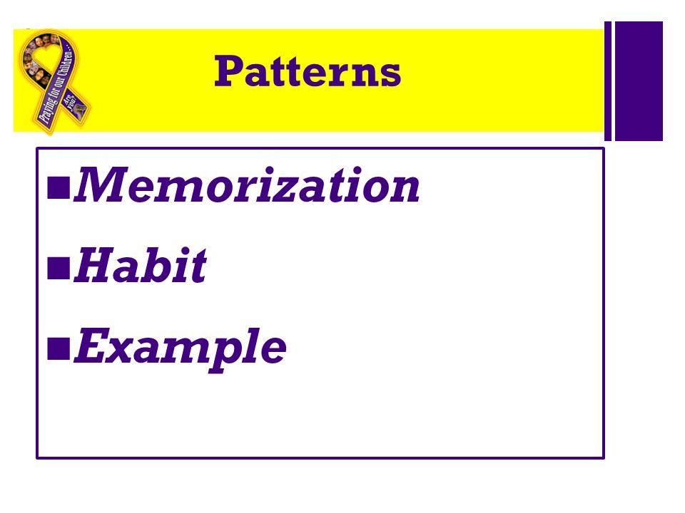 Patterns Memorization Habit Example