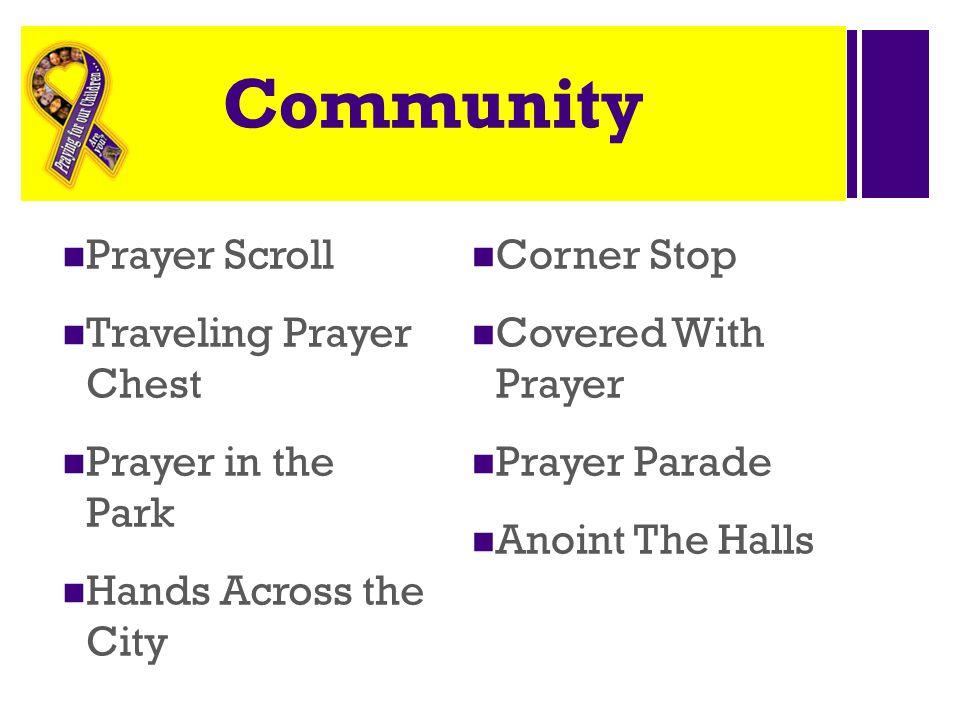 Community Prayer Scroll Traveling Prayer Chest Prayer in the Park