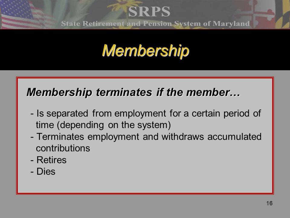 Membership Membership terminates if the member…