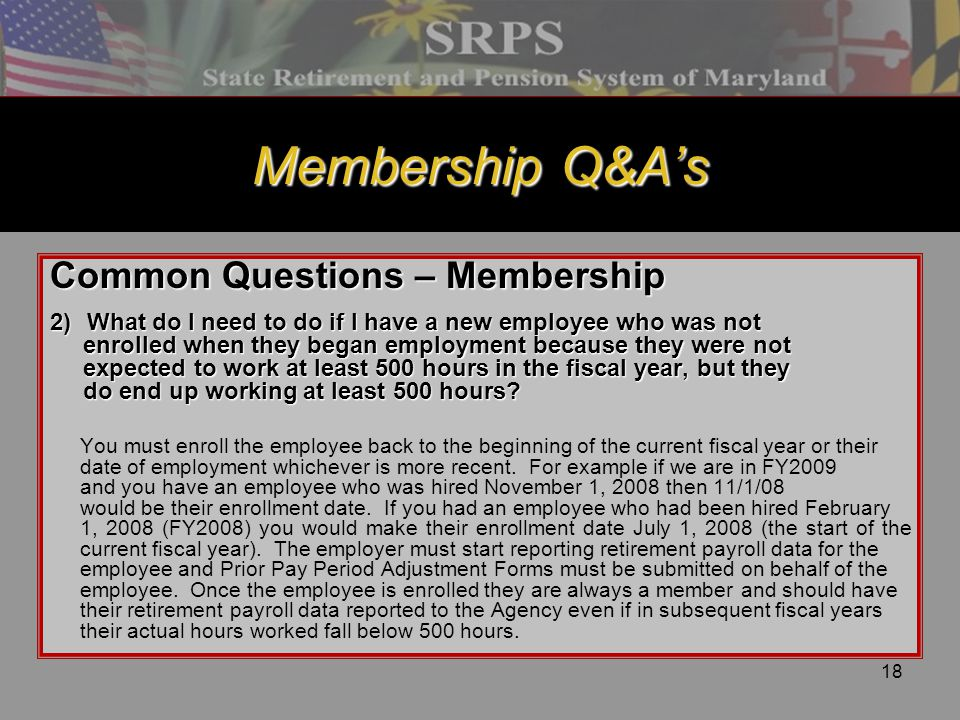 Membership Q&A's Common Questions – Membership