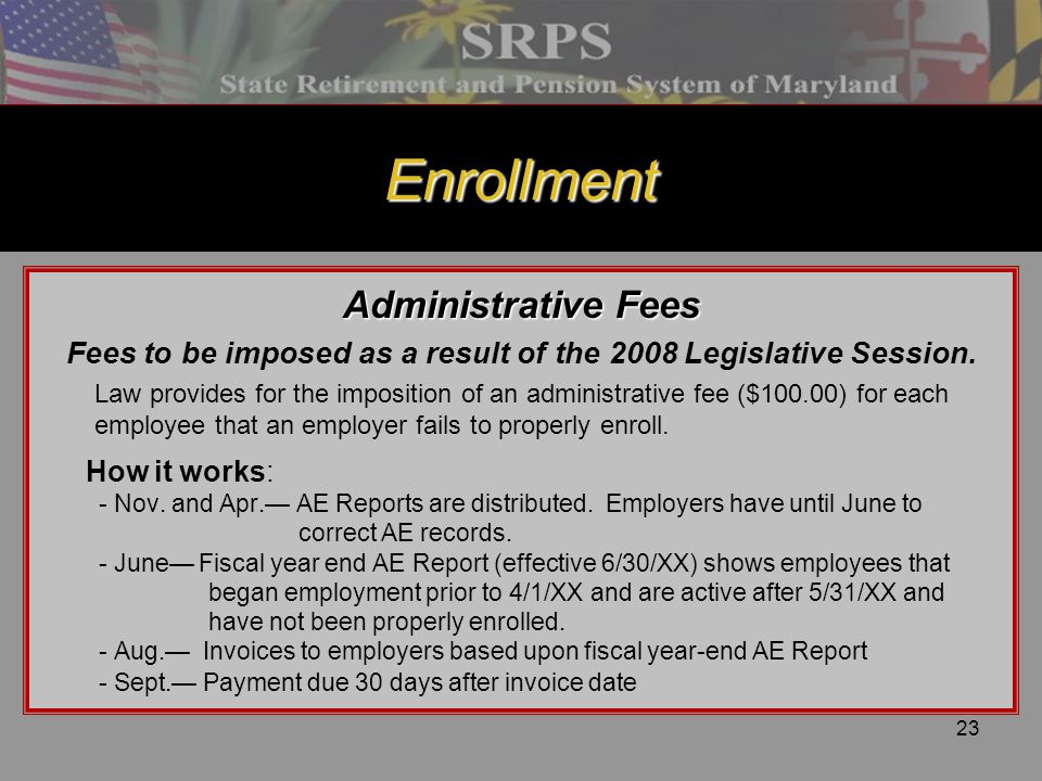 Fees to be imposed as a result of the 2008 Legislative Session.