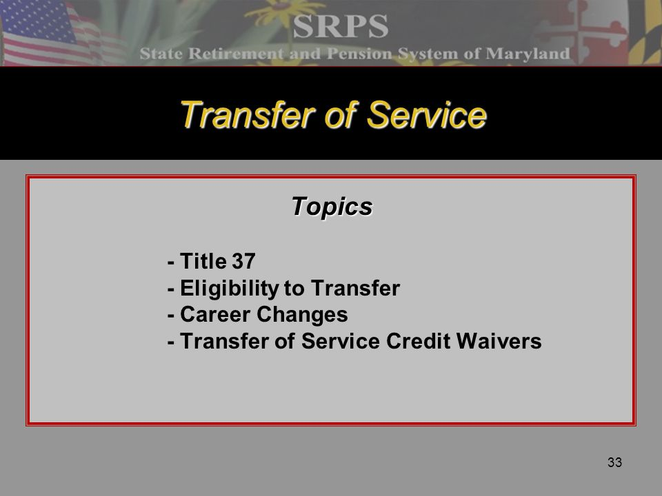 Transfer of Service Topics - Title 37 - Eligibility to Transfer