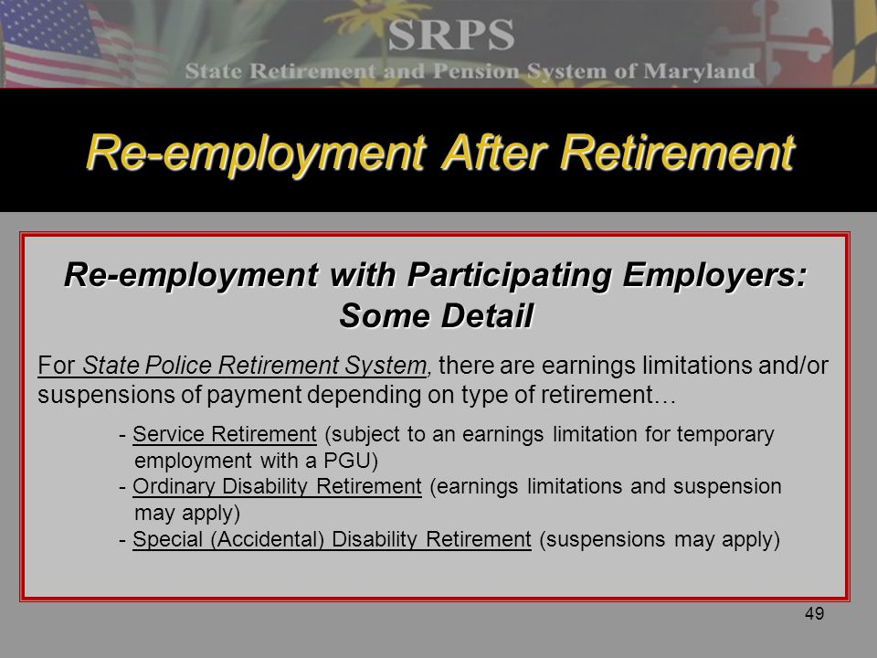 Re-employment After Retirement