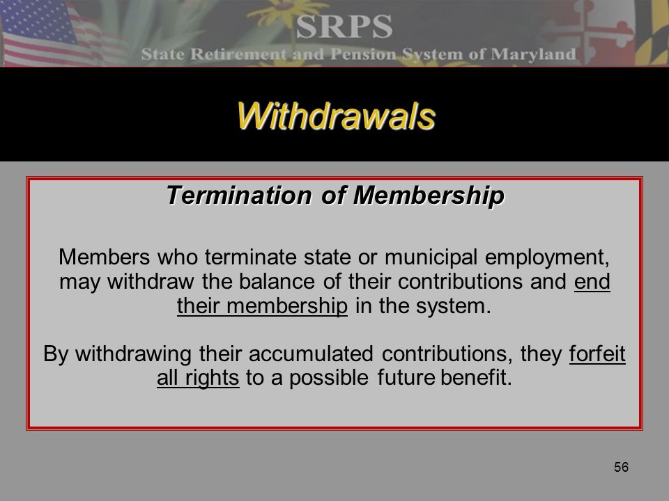 Termination of Membership